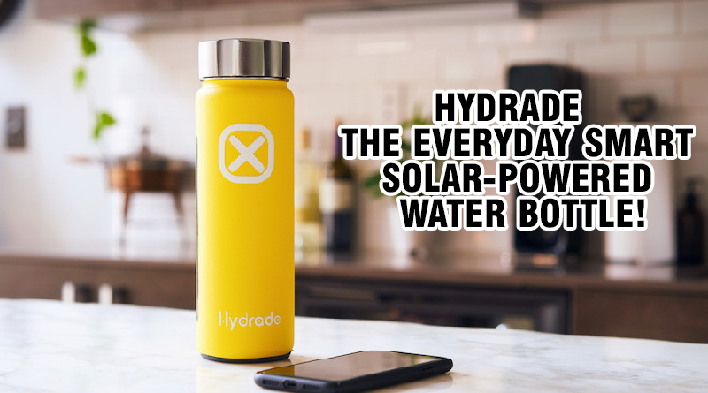 Hydrade Solar Powered Water Bottle