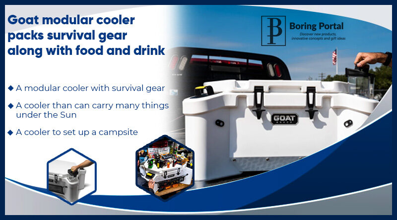 Goat-modular-cooler-packs-survival-gear-along-with-food-and-drink