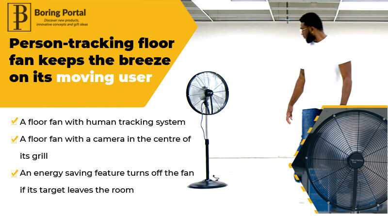 Person-tracking-floor-fan-keeps-the-breeze-on-its-moving-user